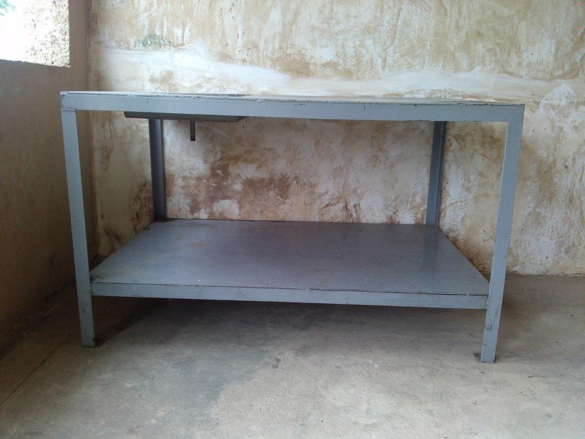 Mesa taller mecanico de metal con lavadero para piezas - Mesa trabajo taller ...