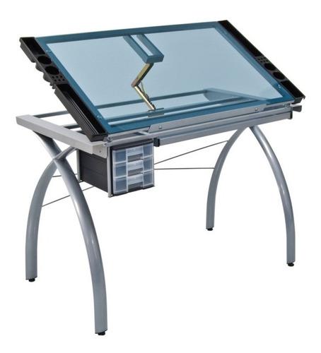 mesa tampo de vidro para desenho futura craft station 61x96
