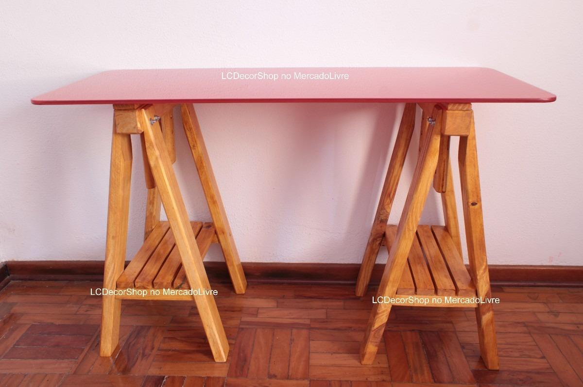Mesa tampos sala escritorio madeira mdf vidro sob medida for Medidas mesa escritorio