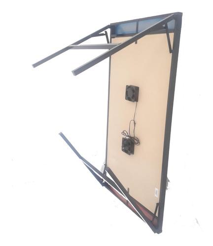 mesa tejo aire eléctrico 100% metal plegable 2 turbinas