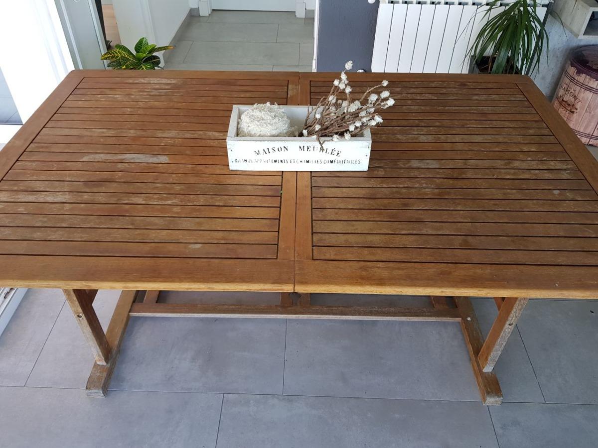 Muebles Teka Jardin Excellent Mesa Extensible Madera Teca Xcm  # Muebles Teka Jardin