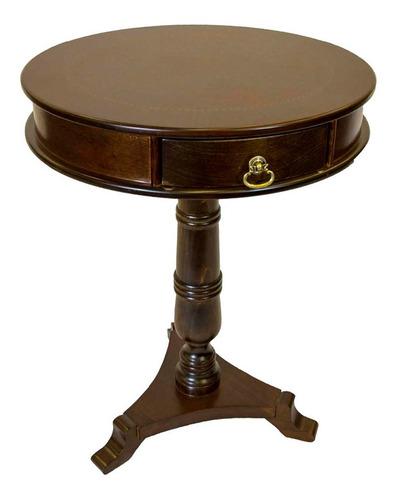 mesa telefonera con cajón combinado madera semimate rosbel