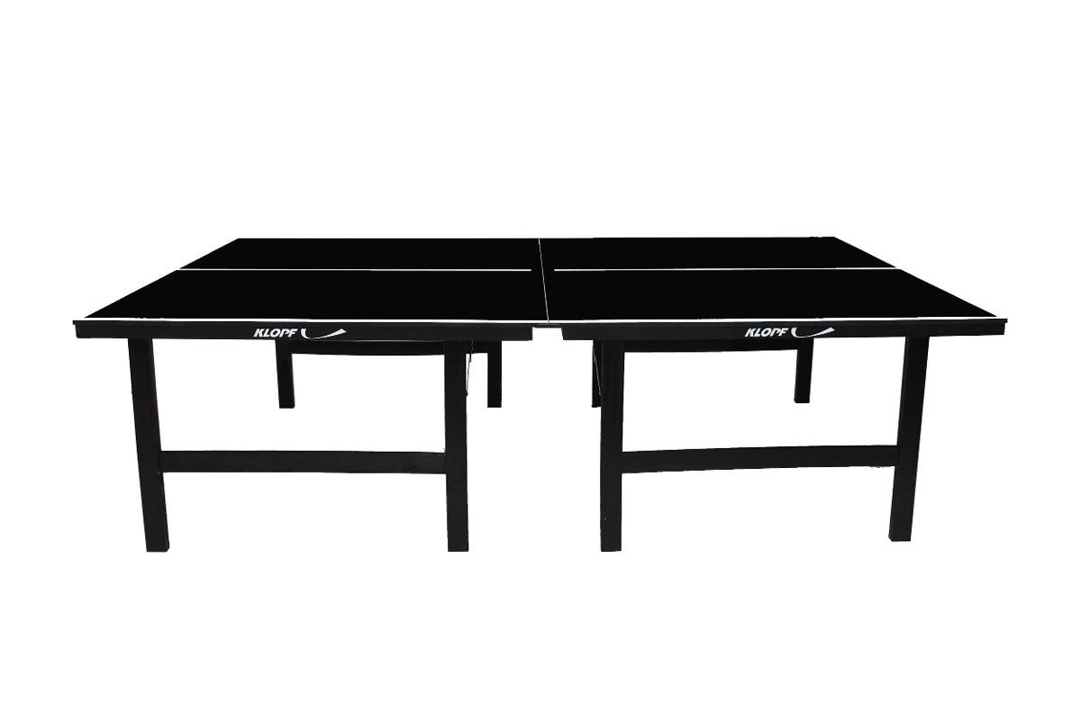 Mesa de t nis de mesa ping pong black edition mdp 15mm for Mesa tenis de mesa