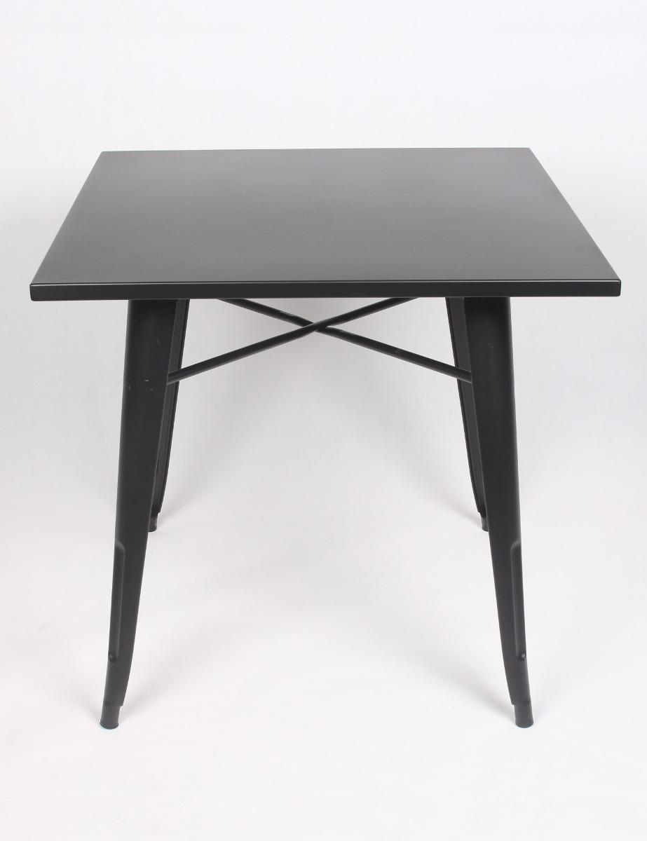 691d0901bd81 Mesa Tolix Metal Cuadrada Cocina Bar Negra 80 X 80cm - $ 6.490,00 en ...