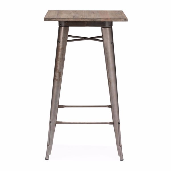Mesa tolix para bar cubierta de madera 5 en for Mesa bar de madera