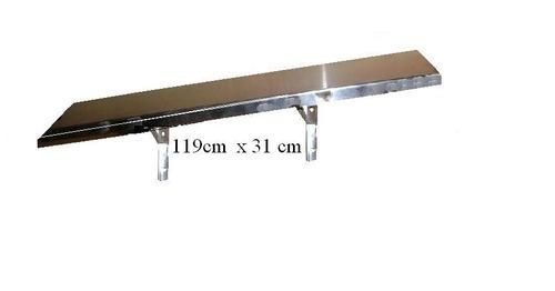 mesa trabajo gastronomía mesada acero inoxidable 119 x 57cm