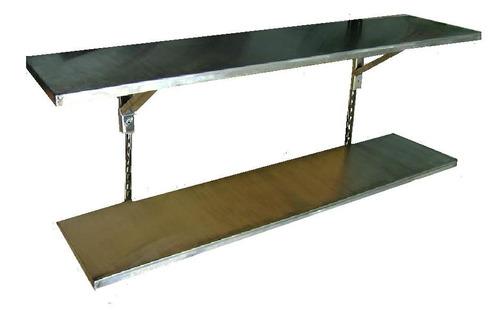 mesa trabajo gastronomía mesada acero inoxidable  183x57cm