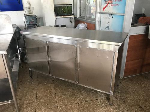 mesa trabajo mesa acero