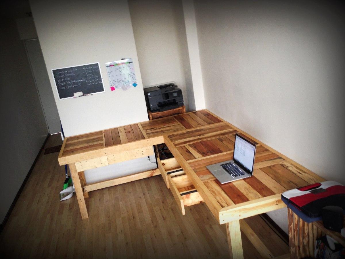 Mesa trabajo o comedor 80cms ancho de madera reciclada for Como remodelar una oficina