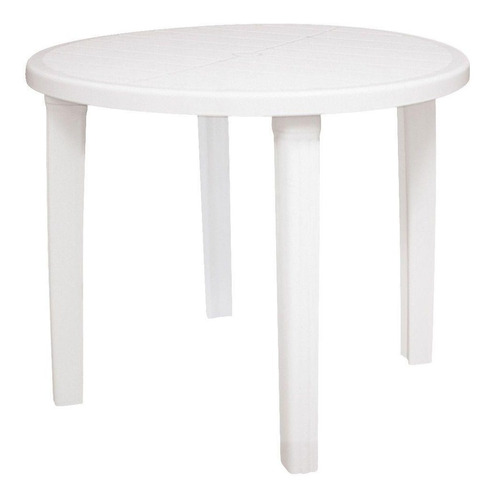 mesa tramontina cassino 92301910 redonda plástica