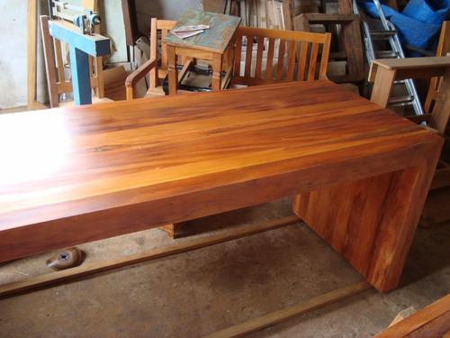 mesa trave - madeira de demolição 100% peroba rosa