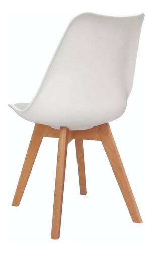 mesa tulip 120 cm diametro - tapa madera + 4 sillas tulip