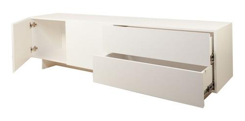 mesa tv laqueada rack modular forbidan muebles