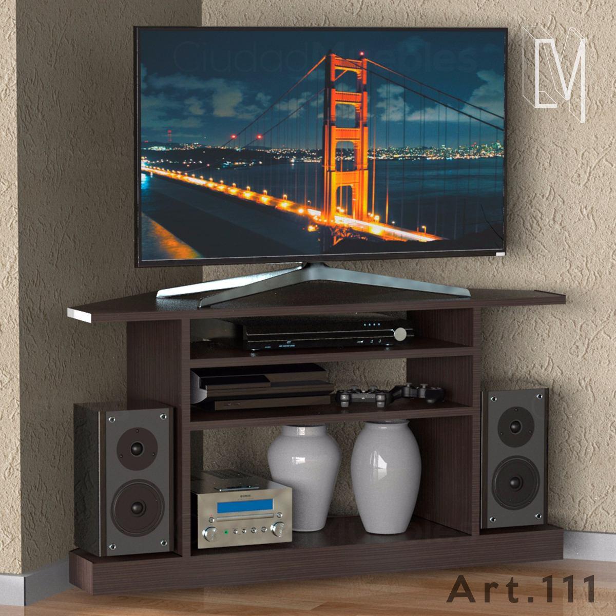 Mesa Tv Lcd Esquinero Rinconero Optimiza Tus Espacios 1 610  # Mueble Tv Rinconero