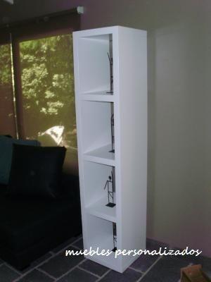 mesa tv lcd laqueada moderna rack