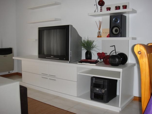 mesa tv lcd led dvd audi 4 puertas repisa estantes flotante.