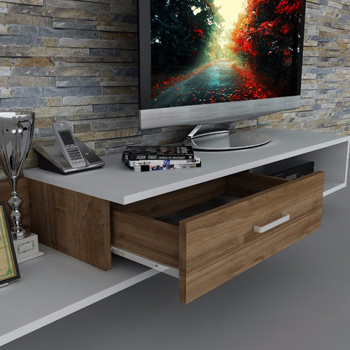 mesa tv lcd led - rack - living - cajon - mueble - modulo