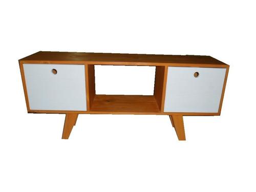 mesa tv led lcd +biblioteca,retro vintage pintada, nordico