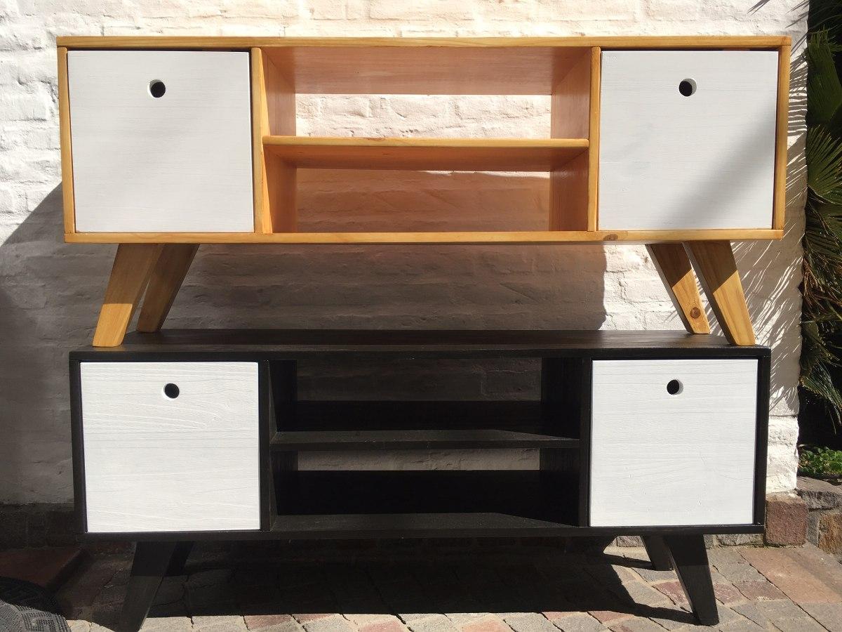 mesa tv led mueble pino americano escandinavo diseo nordico with muebles diseo escandinavo