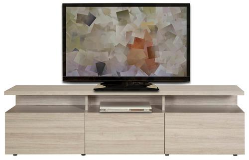mesa tv linea stylo 3 puertas 44,5x160x36 latte madera
