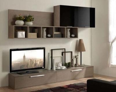 mesa tv modular rack lcd vajillero organizador mueble modern