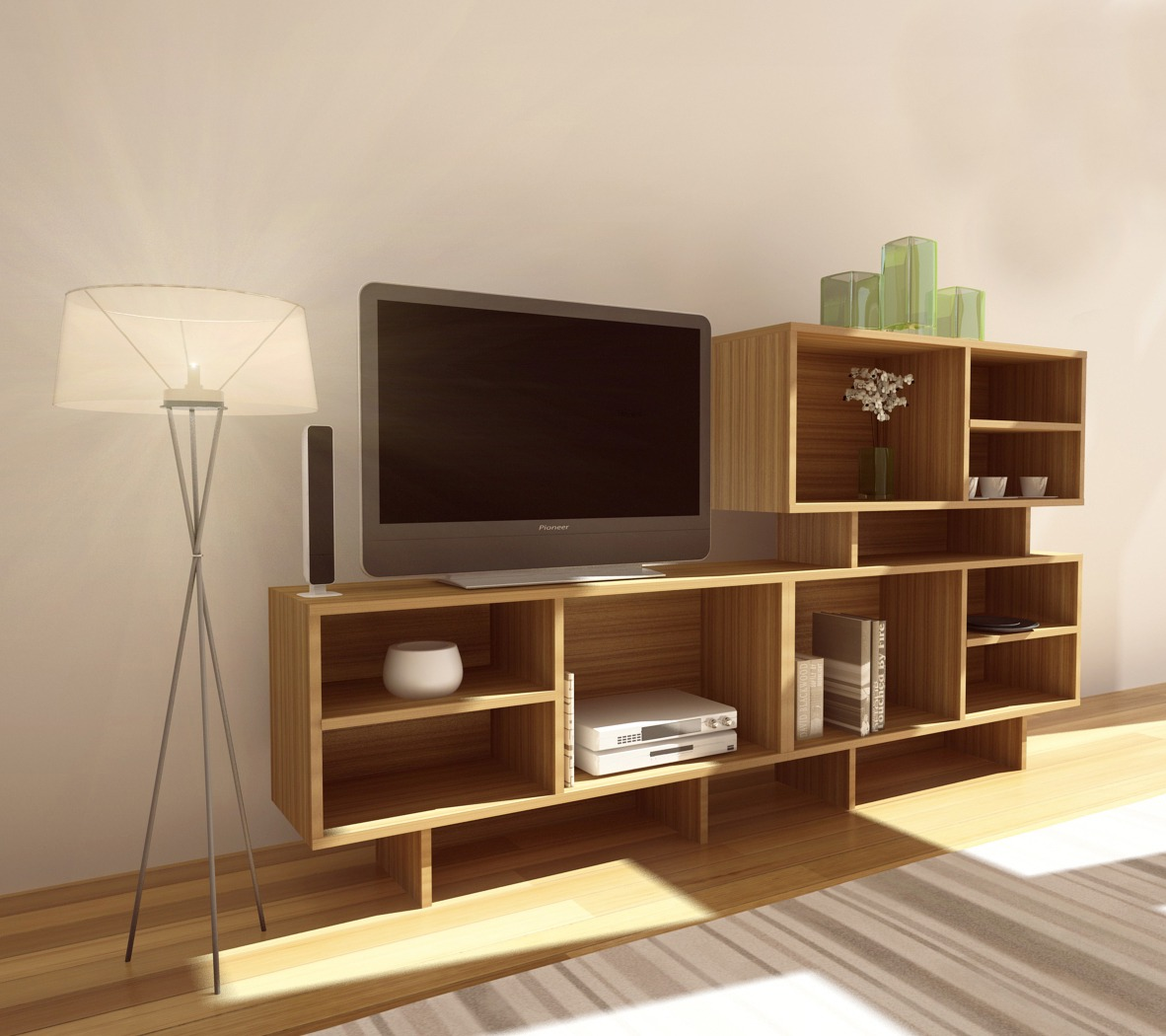 Mesa Tv M Dulo O Biblioteca Modular Green Muebles 1 590  # Muebles Bibliotecas Modulares
