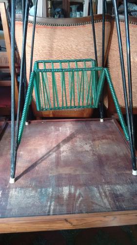 mesa-tv-revisteiro-dec.60-giratória-madeira e ferro