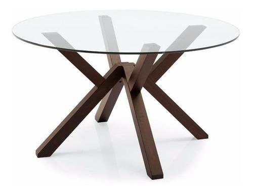 mesa valencia diseño circular cristal 120 cm 4 personas