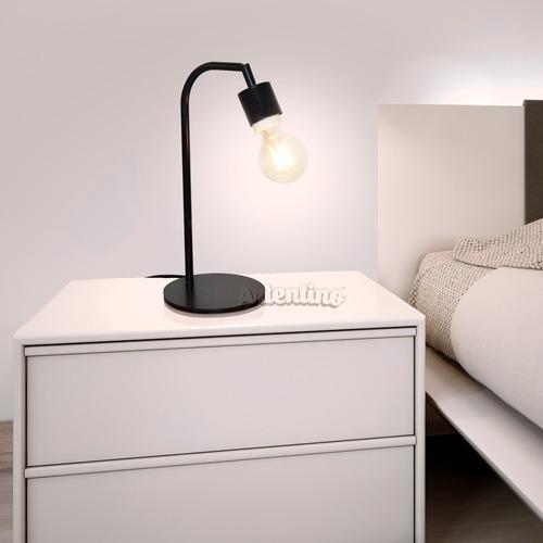 mesa velador lampara