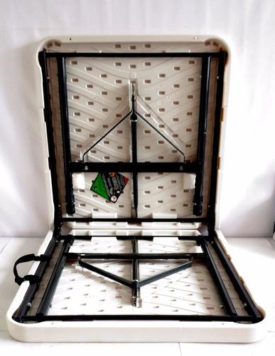mesa verona plegable ajustable 3 alturas 53 cm 74 cm 87 cm