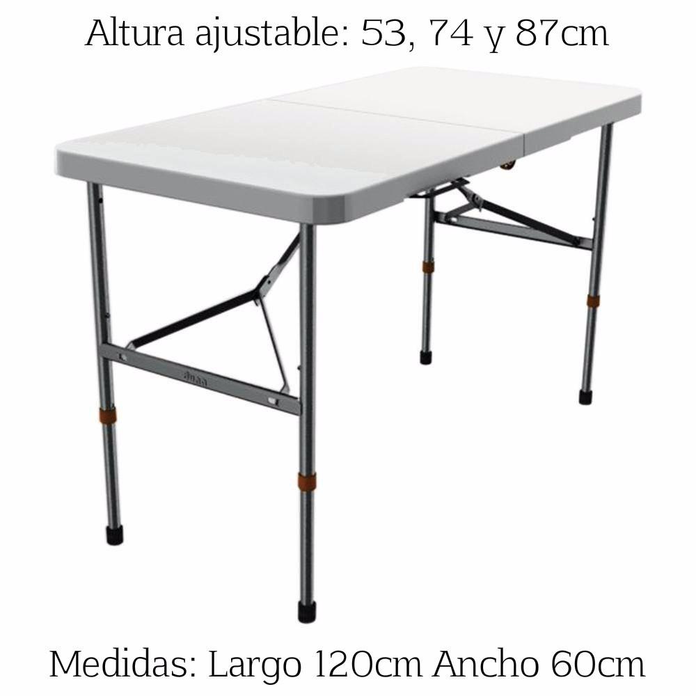Mesa verona tipo portafolio plegable 120cm 3 alturas for Mesa plegable mercado libre