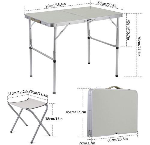 mesa via maleta aluminio 2 banco camping praia campo cadeira