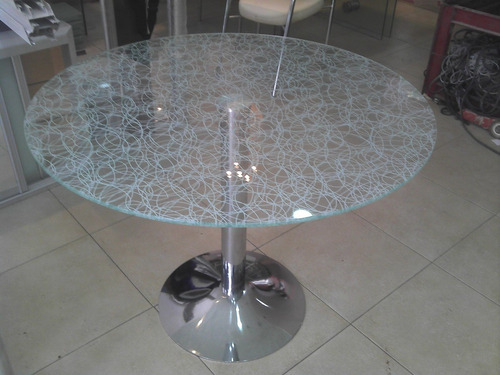 mesa vidrio redonda color o incoloro a medida cristalcenter