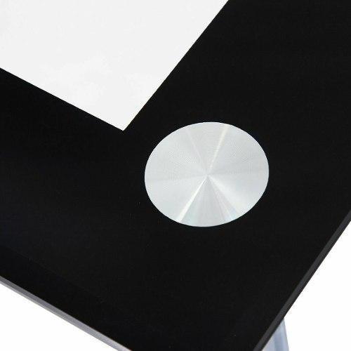 mesa vidrio templado marco acero dimensión 45.5 x28 x29.5