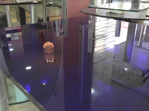 mesa vidrio violeta 10+5 solo en cristalcenter