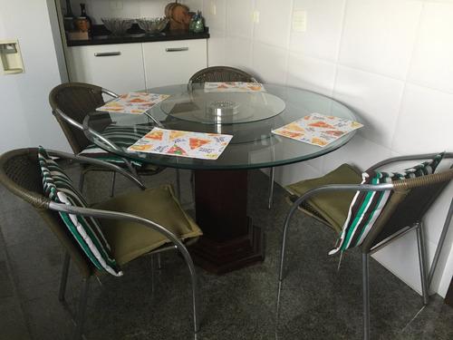 mesa vidro, madeira,