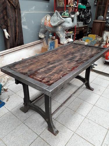 mesa vintage industrial escrivaninha ou mesa de jantar