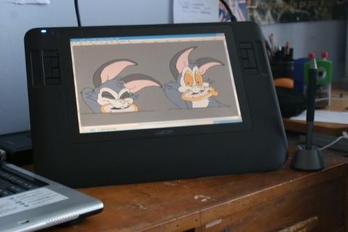 mesa wacom cintiq 12wx hd tablet cad 3d max photoshop corel
