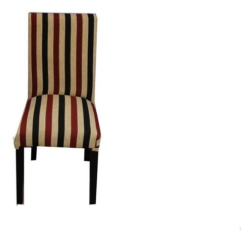 mesa wengue extensible y 6 sillas vestidas chenille stock