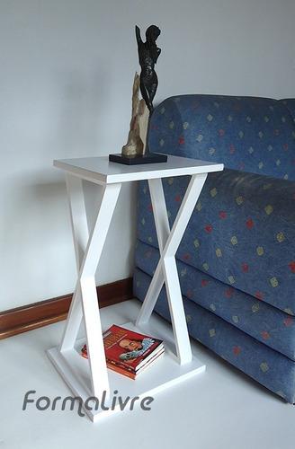 mesa x lateral de apoio mesa cabeceira criado mudo - branco