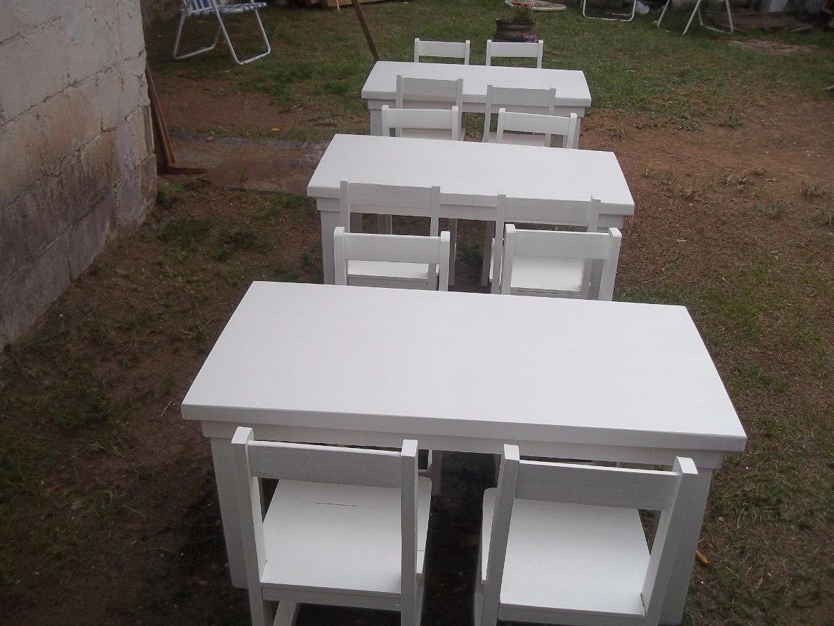 Mesa Y 4 Sillas Infantil 1 400 00 En Mercado Libre # Muebles Juampy Tigre