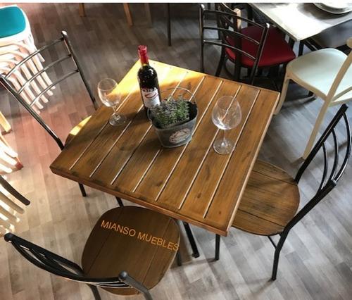 mesa y 4 sillas para restaurantes, bares cafeterías