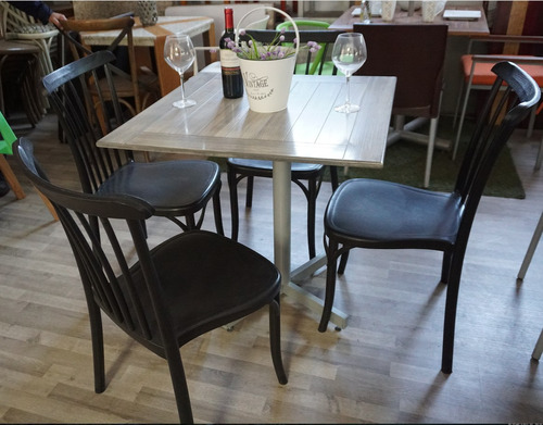 mesa y 4 sillas vintage restaurantes,cafeterias y bares