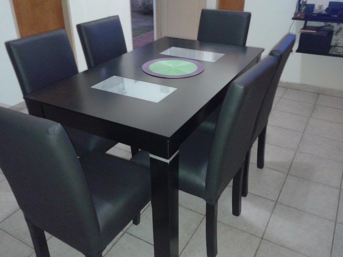 Mesa Y 6 Sillas Comedor Wengue Guatambu - Oferta De Fabrica ...