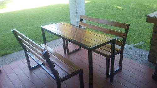 mesa y banco para exterior