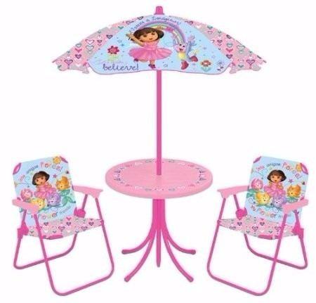 Mesa y dos sillas de dora bailarina para ni as for Mesas y sillas para ninas
