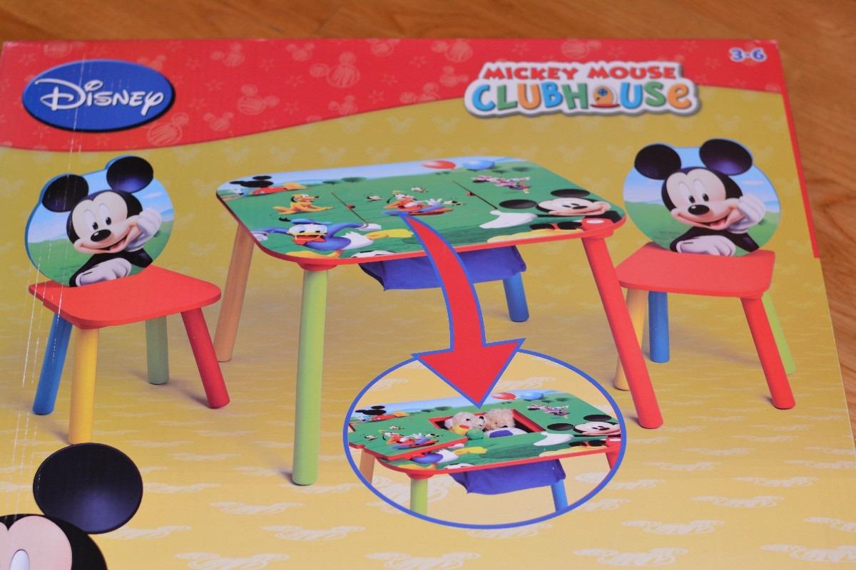 Mesa y dos sillas de mickey mouse producto americano - Muebles de mickey mouse ...