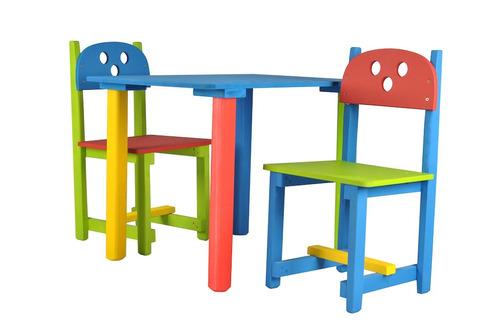 Mesa y dos sillas infantiles en mercado libre for Mercado libre mesas y sillas