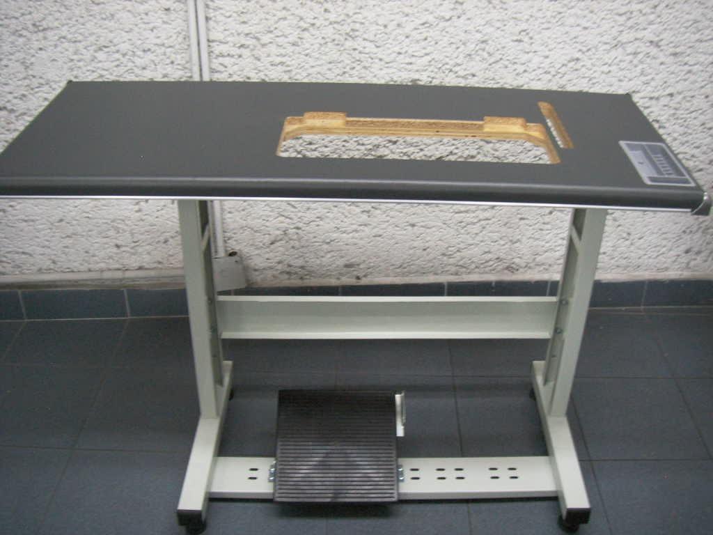 Mesa y estante para maquina de coser industrial 1 800 - Mesas para coser a maquina ...