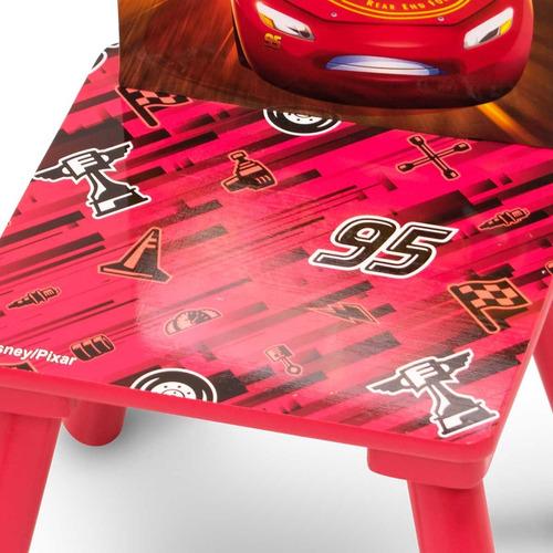 mesa y silla infantil disney cars